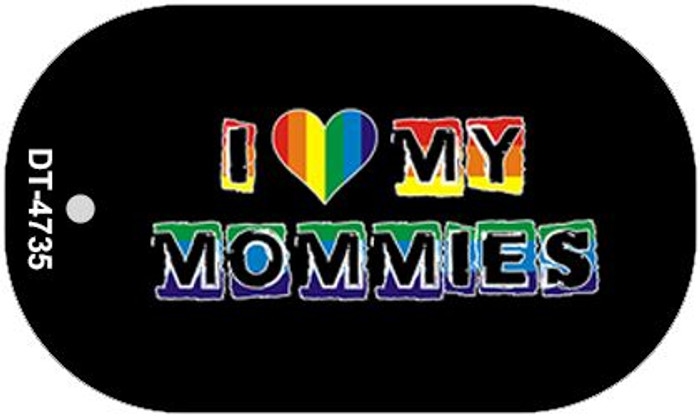 Love My Mommies Rainbow  Novelty Metal Dog Tag Necklace DT-4735