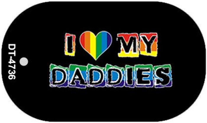 Love My Daddies Rainbow Novelty Metal Dog Tag Necklace DT-4736