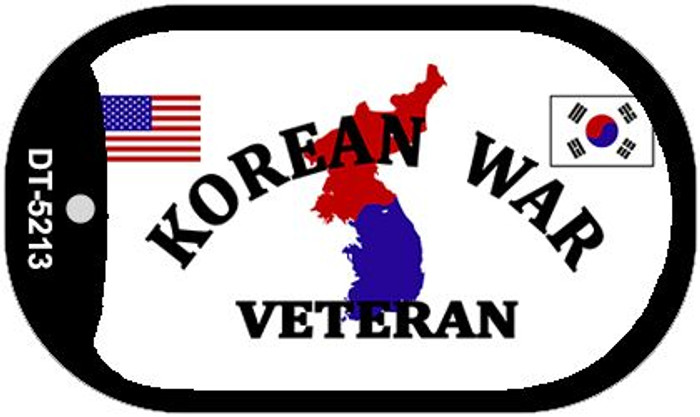 Korean War Veteran Novelty Metal Dog Tag Necklace DT-5213