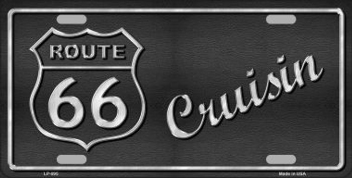 Route 66 Cruisin Novelty Metal License Plate