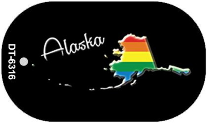 Alaska Rainbow State Novelty Metal Dog Tag Necklace DT-6316