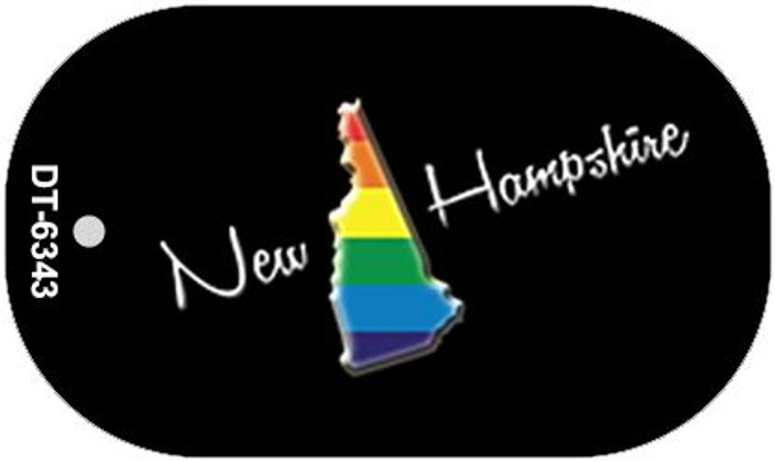 New Hampshire Rainbow State Novelty Metal Dog Tag Necklace DT-6343