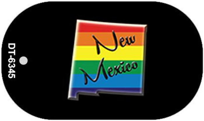 New Mexico Rainbow State Novelty Metal Dog Tag Necklace DT-6345