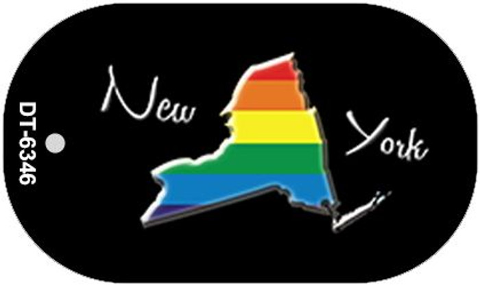 New York Rainbow State Novelty Metal Dog Tag Necklace DT-6346