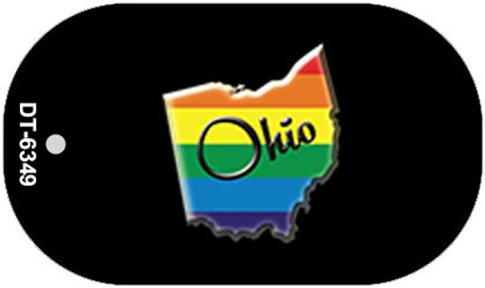 Ohio Rainbow State Novelty Metal Dog Tag Necklace DT-6349
