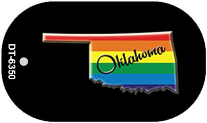 Oklahoma Rainbow State Novelty Metal Dog Tag Necklace DT-6350