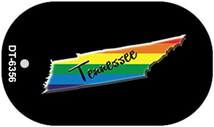 Tennessee Rainbow State Novelty Metal Dog Tag Necklace DT-6356