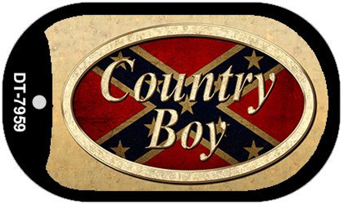 Country Boy Novelty Metal Dog Tag Necklace DT-7959