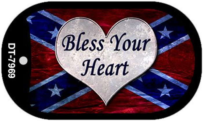 Bless Your Heart Novelty Metal Dog Tag Necklace DT-7969