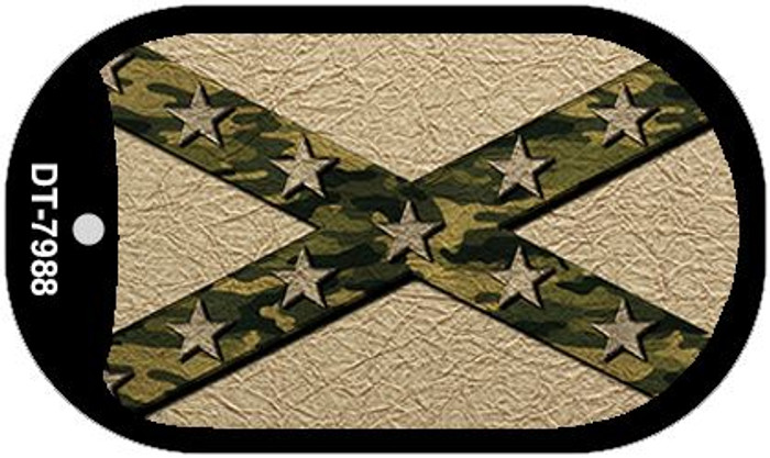 Confederate Stripes Camo Novelty Metal Dog Tag Necklace DT-7988