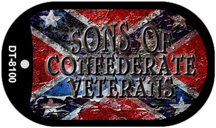 Sons Of Confederate Veterans Novelty Metal Dog Tag Necklace DT-8100
