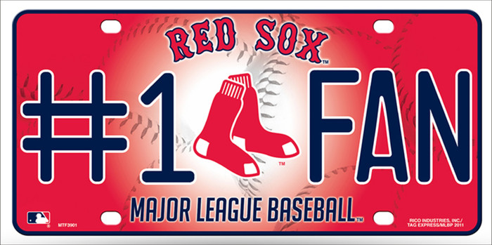 Red Sox Fan Metal Novelty License Plate LP-623