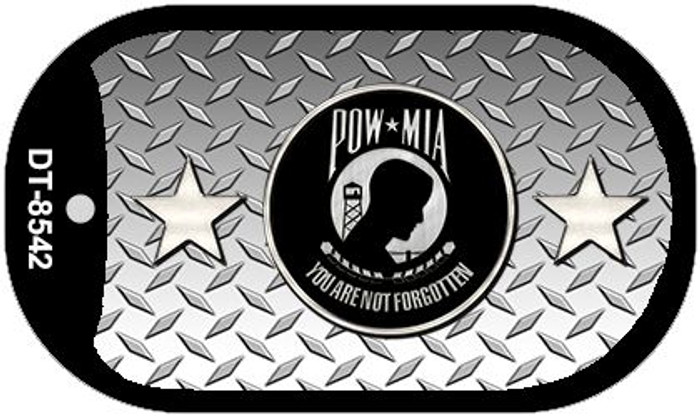 POW MIA Diamond Novelty Metal Dog Tag Necklace DT-8542