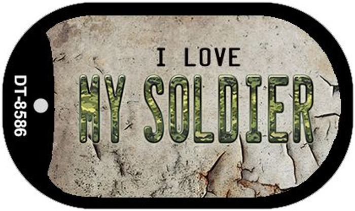 I Love My Soldier Novelty Metal Dog Tag Necklace DT-8586