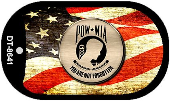 POW MIA With USA Flag Novelty Metal Dog Tag Necklace DT-8641
