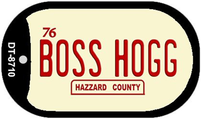 Boss Hogg Hazzard County Novelty Metal Dog Tag Necklace DT-8710