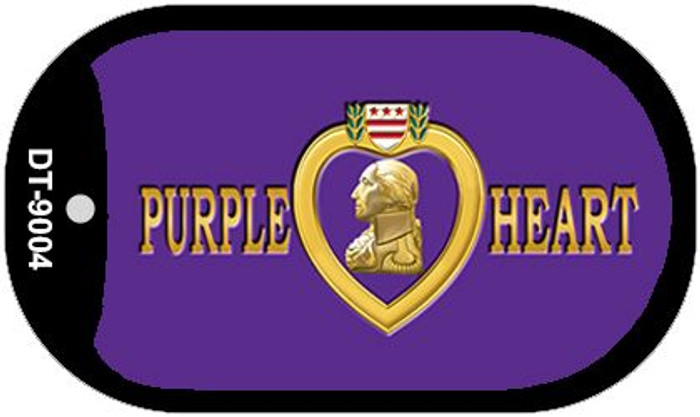 Purple Heart Novelty Metal Dog Tag Necklace DT-9004