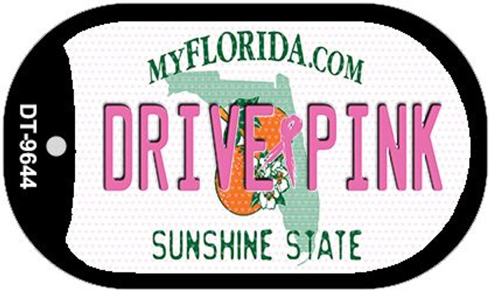 Drive Pink Florida Novelty Metal Dog Tag Necklace DT-9644