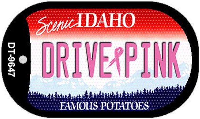 Drive Pink Idaho Novelty Metal Dog Tag Necklace DT-9647