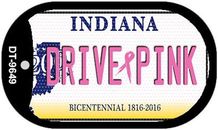 Drive Pink Indiana Novelty Metal Dog Tag Necklace DT-9649