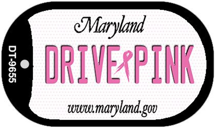 Drive Pink Maryland Novelty Metal Dog Tag Necklace DT-9655