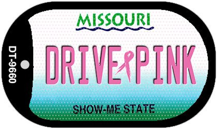 Drive Pink Missouri Novelty Metal Dog Tag Necklace DT-9660