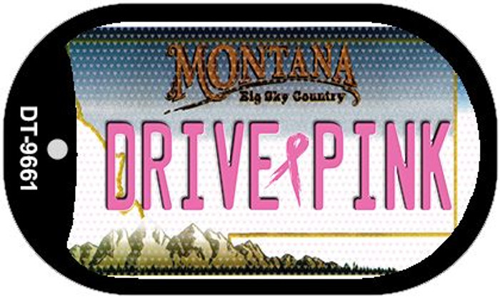 Drive Pink Montana Novelty Metal Dog Tag Necklace DT-9661
