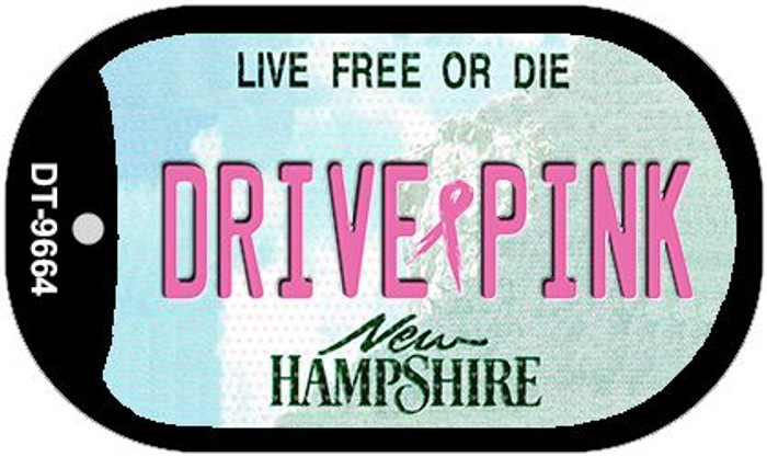 Drive Pink New Hampshire Novelty Metal Dog Tag Necklace DT-9664