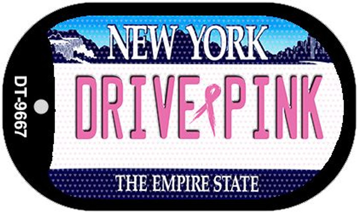 Drive Pink New York Novelty Metal Dog Tag Necklace DT-9667