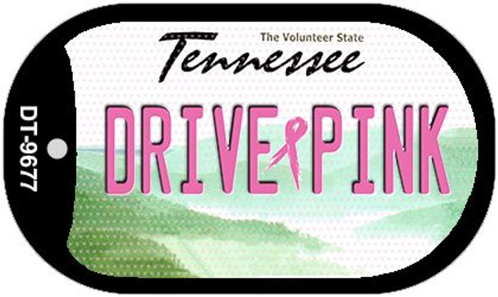 Drive Pink Tennessee Novelty Metal Dog Tag Necklace DT-9677