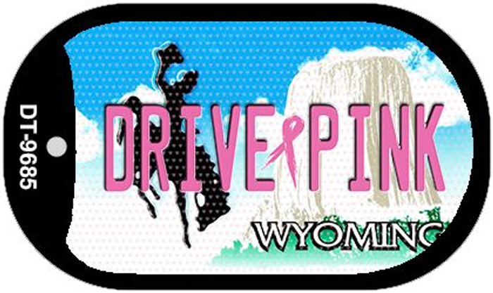 Drive Pink Wyoming Novelty Metal Dog Tag Necklace DT-9685