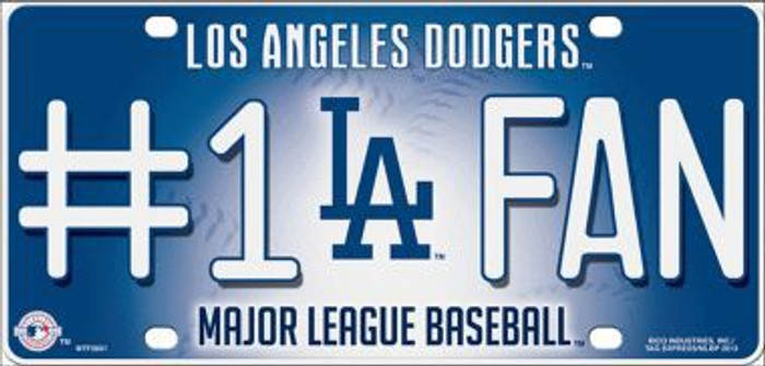 Dodgers Fan Metal Novelty License Plate