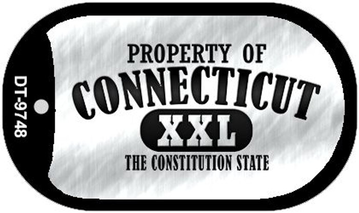 Property Of Connecticut Novelty Metal Dog Tag Necklace DT-9748