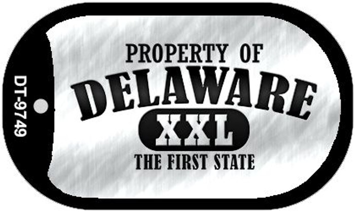 Property Of Delaware Novelty Metal Dog Tag Necklace DT-9749