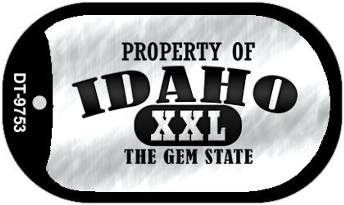 Property Of Idaho Novelty Metal Dog Tag Necklace DT-9753