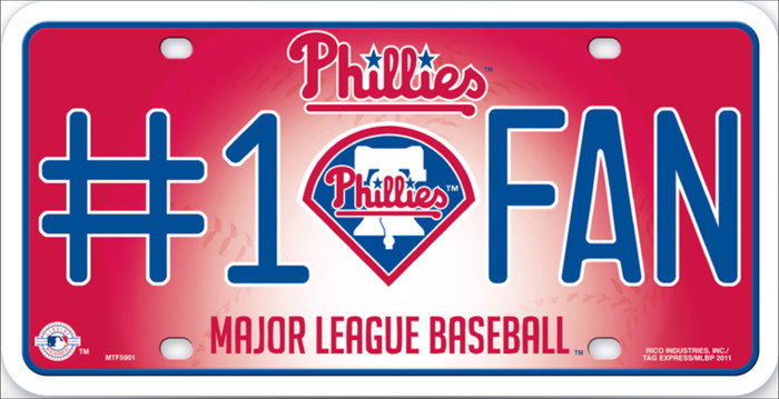Phillies Fan Metal Novelty License Plate LP-647