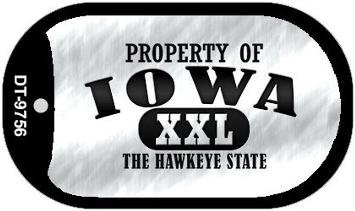 Property Of Iowa Novelty Metal Dog Tag Necklace DT-9756