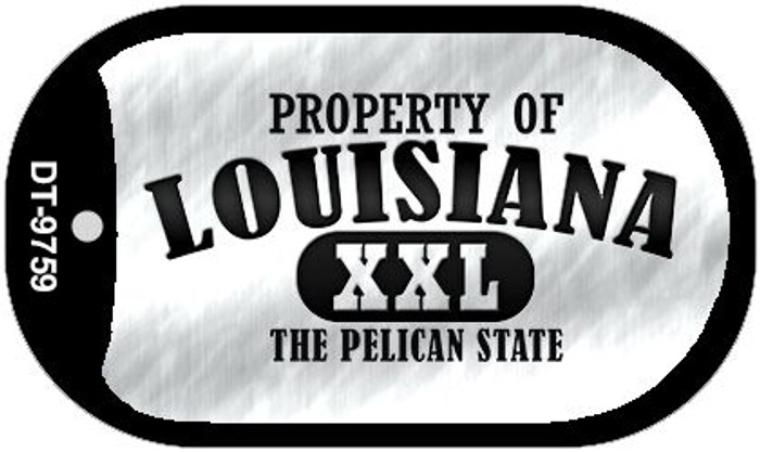Property Of Louisiana Novelty Metal Dog Tag Necklace DT-9759