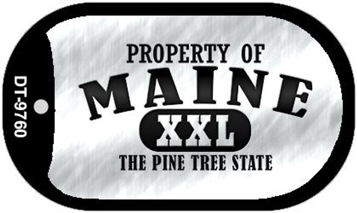 Property Of Maine Novelty Metal Dog Tag Necklace DT-9760