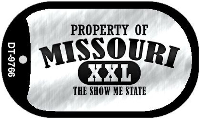 Property Of Missouri Novelty Metal Dog Tag Necklace DT-9766