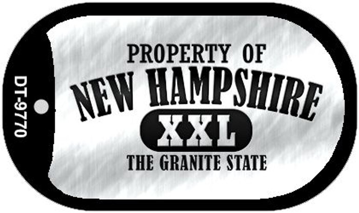 Property Of New Hampshire Novelty Metal Dog Tag Necklace DT-9770