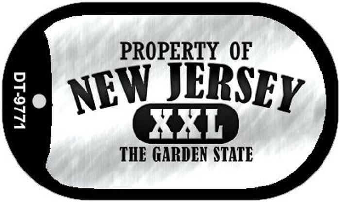 Property Of New Jersey Novelty Metal Dog Tag Necklace DT-9771