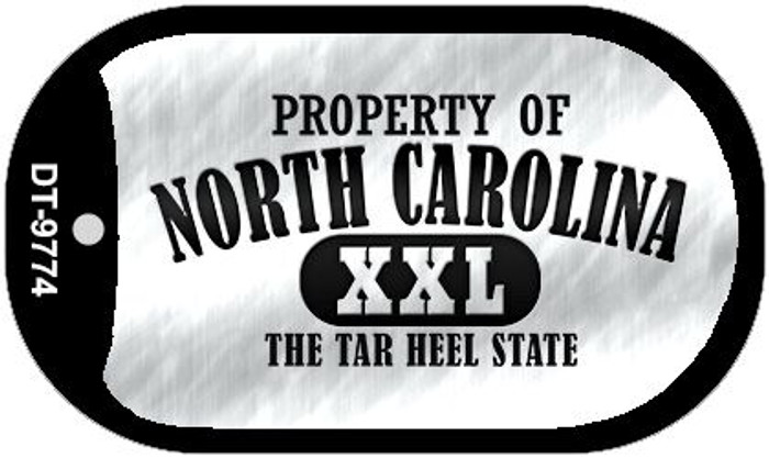 Property Of North Carolina Novelty Metal Dog Tag Necklace DT-9774