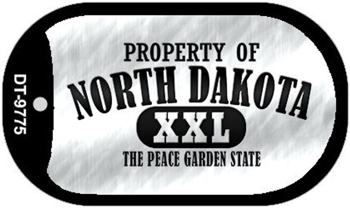 Property Of North Dakota Novelty Metal Dog Tag Necklace DT-9775
