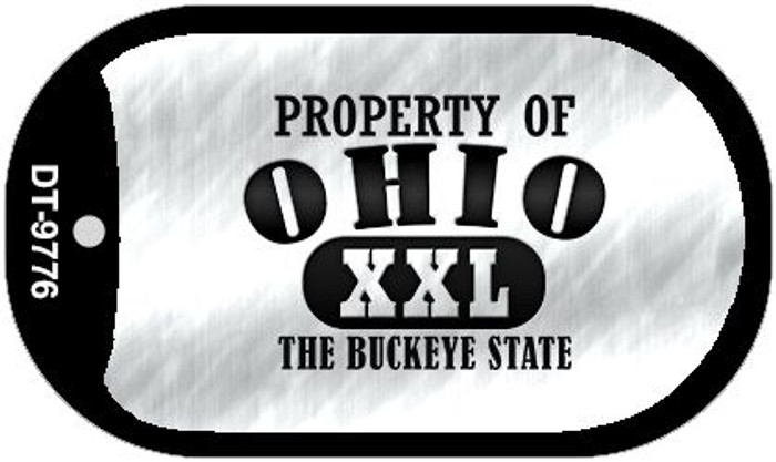 Property Of Ohio Novelty Metal Dog Tag Necklace DT-9776