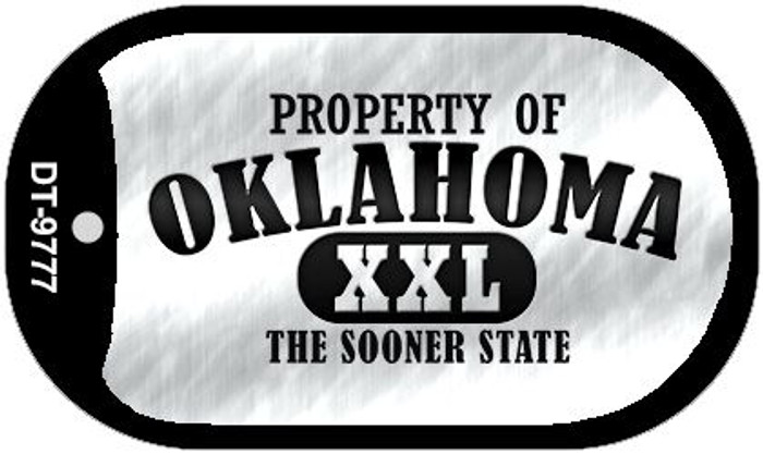 Property Of Oklahoma Novelty Metal Dog Tag Necklace DT-9777