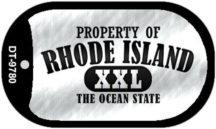 Property Of Rhode Island Novelty Metal Dog Tag Necklace DT-9780