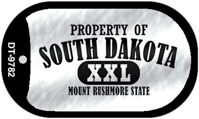 Property Of South Dakota Novelty Metal Dog Tag Necklace DT-9782