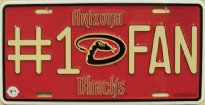 Diamondbacks Fan Metal Novelty License Plate