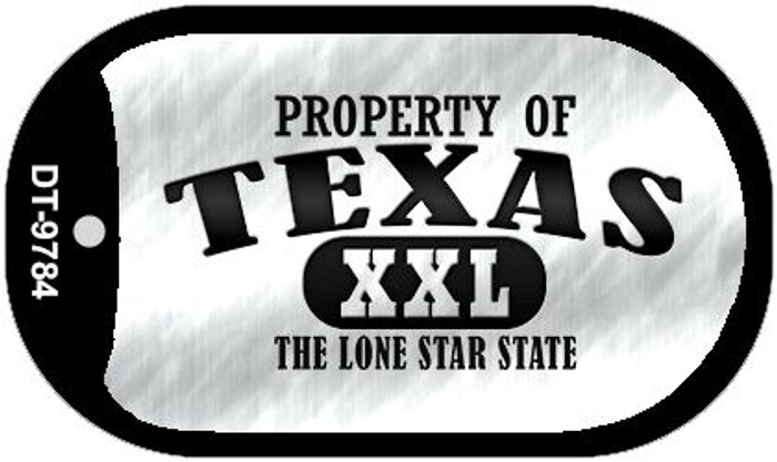 Property Of Texas Novelty Metal Dog Tag Necklace DT-9784